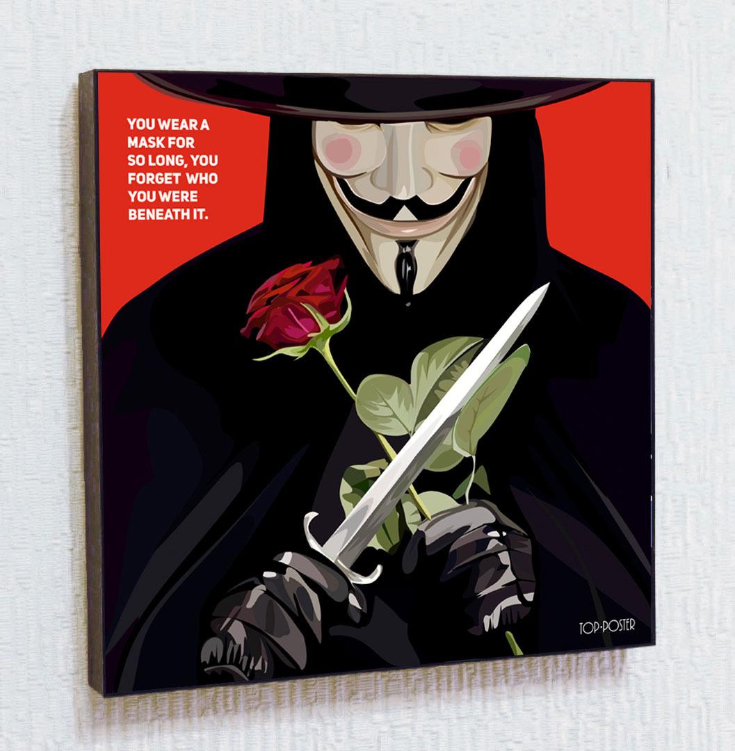 Картина ПОП-АРТ Вендетта гай фокс анонимус