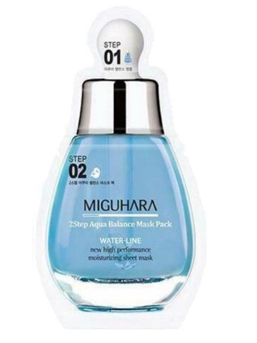 MIGUHARA увлажняющая двухэтапная маска Miguhara 2step Aqua Balance Mask Pack, 26,7 мл.