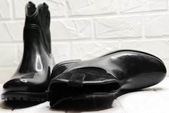 Стильные женские резиновые сапоги с утеплителем Mida 22377-249 Black.