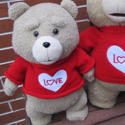 Тедд в кофте с сердцем