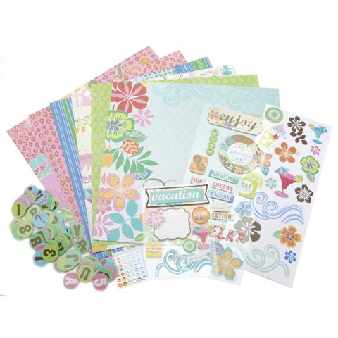 Набор бумаги с украшениями Me & My Big Ideas Page Kit- 30х30см -Surf Shop