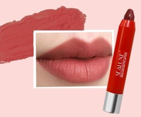 SEALUXE Матовая губная помада-карандаш (темный красный-цвет)