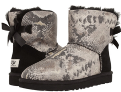 UGG Bailey Bow Mini Snake Black