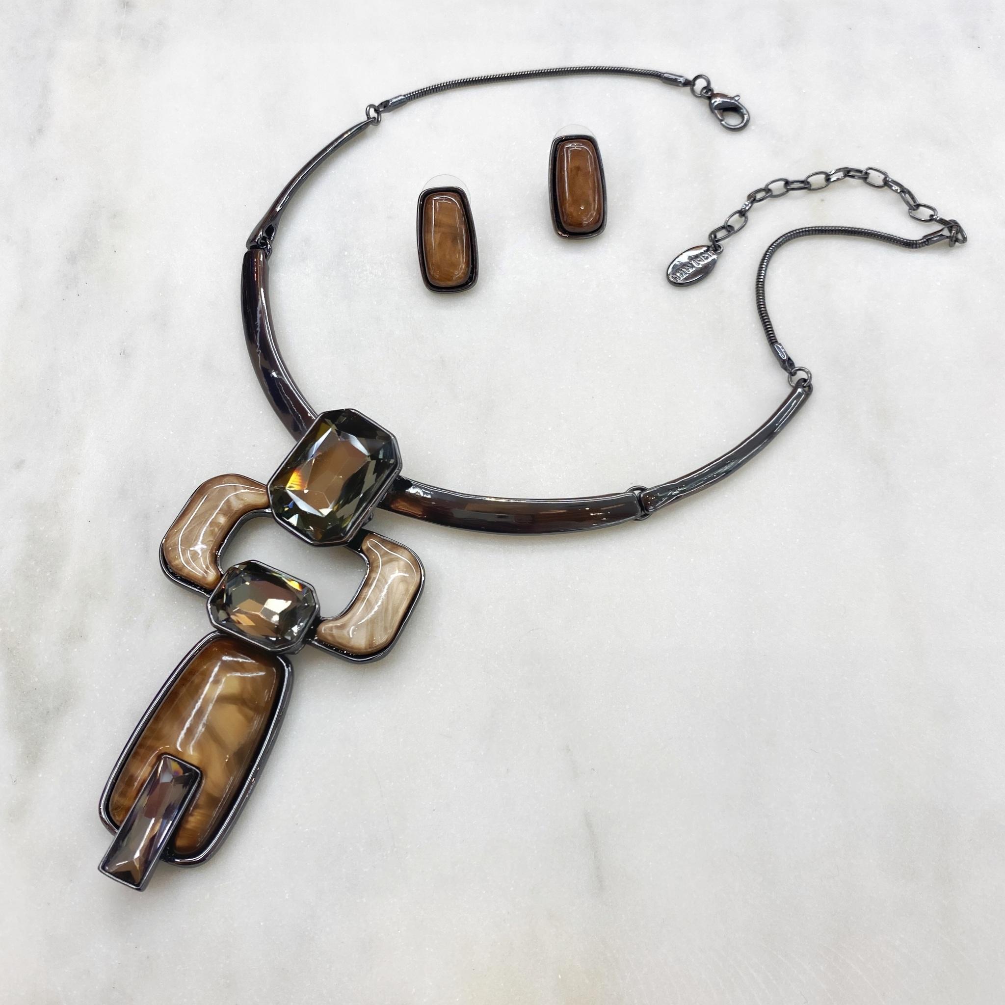 Комплект Арт Плей Мод.15 коричневый (худ.стекло, глазурь, акрил)