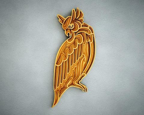 Зоркая сова от SamCraft - сборные объемные 3D картины из дерева своими руками