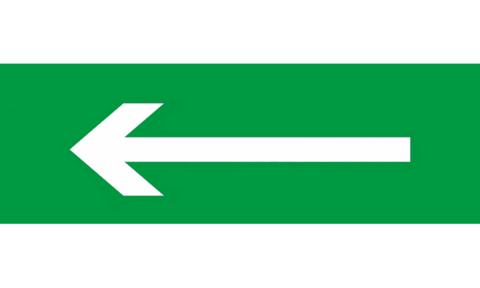 Знак для табло направления движения – СТРЕЛКА НАЛЕВО