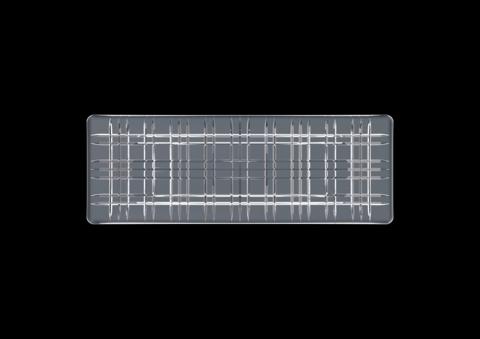 Блюдо серое прямоугольное, артикул 101453. Серия Square