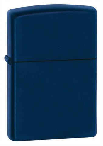 Зажигалка Zippo Navy Matte с покрытием Navy Matte, латунь/сталь, синяя, матовая, 36x12x56 мм123