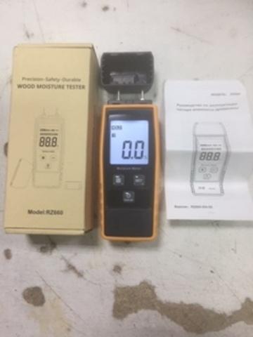 Цифровой измеритель влажности древесины 0-80%