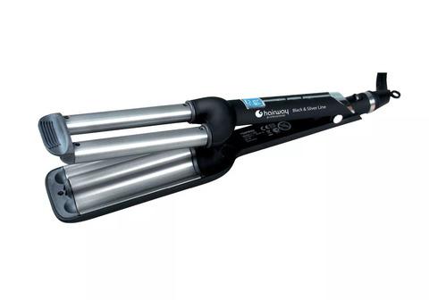 Плойка Hairway Black & Silver Line, 16-16-16 мм, 80 Вт