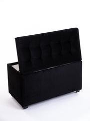 Пф-800-Я Пуфик квадратный (черный) с ящиком для хранения