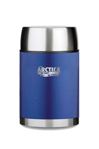Термос для еды Арктика (0,6 литра) с супер-широким горлом, синий