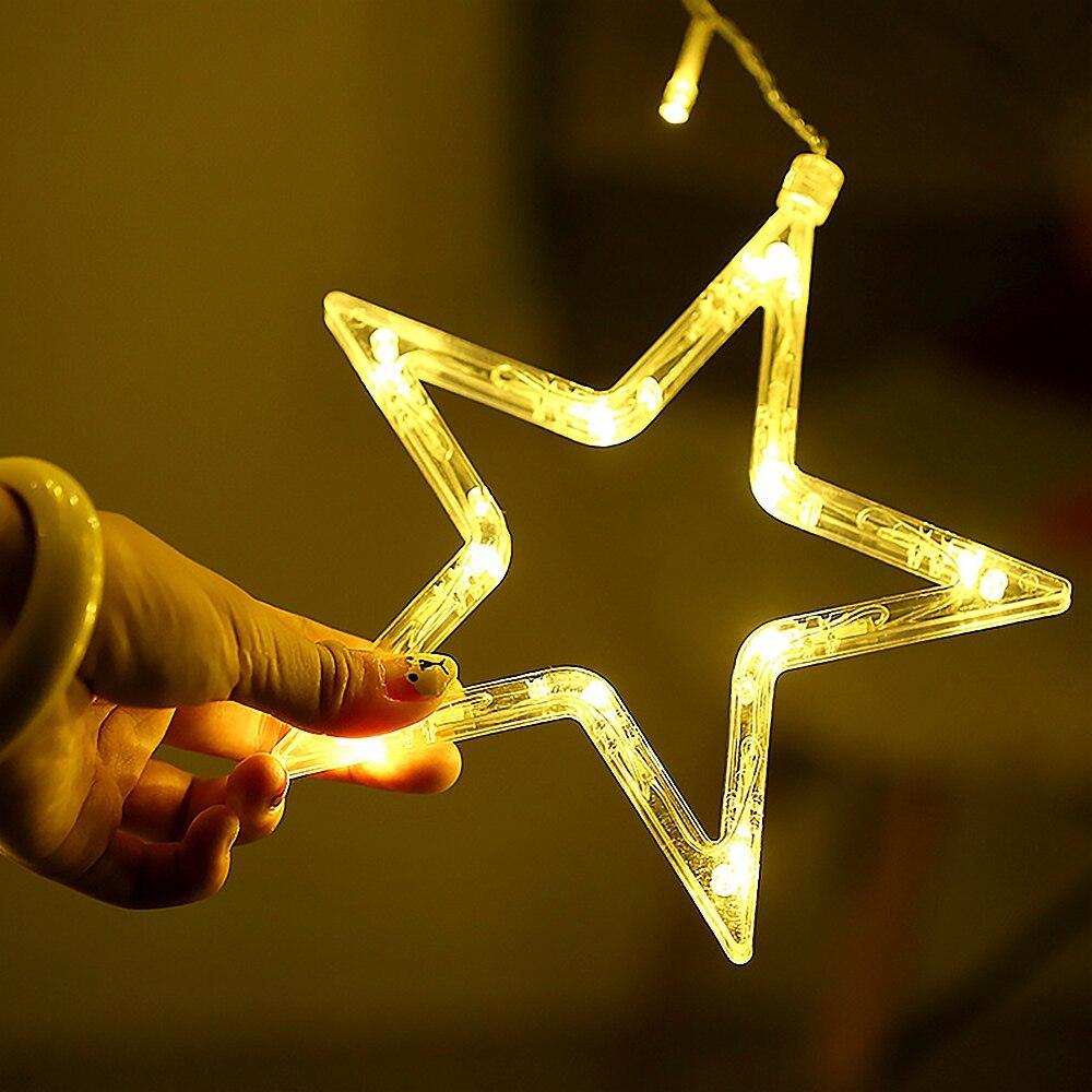 Гирлянда-Звезды EPECOLED на солнечной батарее (3.5 метра)