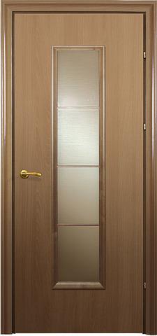 Дверь 10.66 (грецкий орех, остекленная шпонированная), фабрика Краснодеревщик