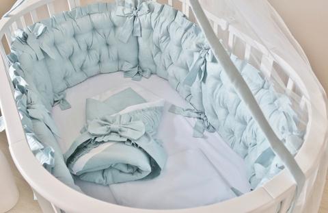 Комплект в круглую/овальную кроватки Ричард