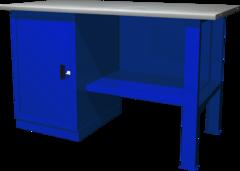 Верстак с одной тумбой — тумба с дверцей, 1390х686х845 мм