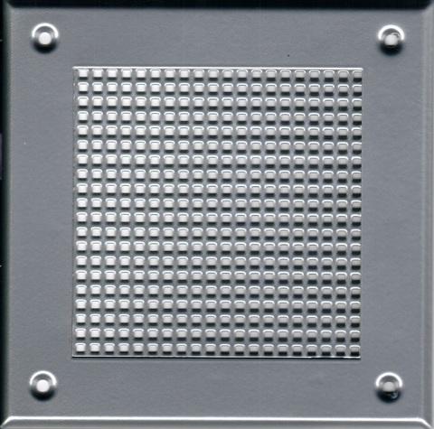 Решётка 210*210 хром,мелкая клетка