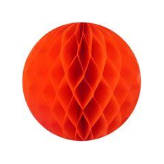 Бумажный Шар-соты, Оранжевый, 40 см