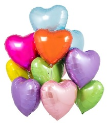 """Букет """"Разноцветные сердца"""" фольга 46 см"""