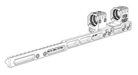 Адаптер для установки предобъективных насадок NV Clip-ON на кронштейны Spuhr (A-700)