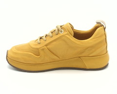 кроссовки горчичного цвета натуральная кожа