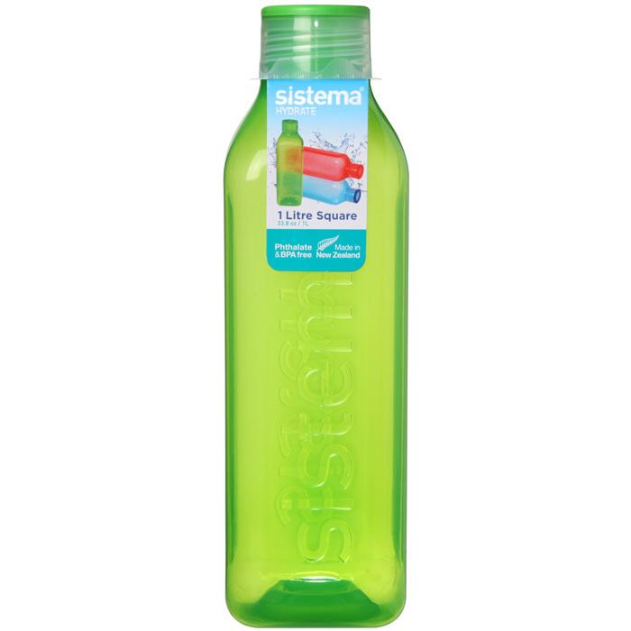 """Бутылка для воды Sistema """"Hydrate"""" 1л, цвет Зеленый"""