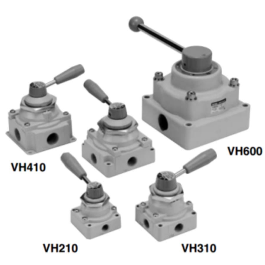 VH402-F03  4/2-Пневмораспределитель с ручным управ ...