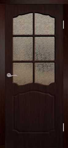 Дверь Сибирь Профиль Классика, цвет венге, остекленная