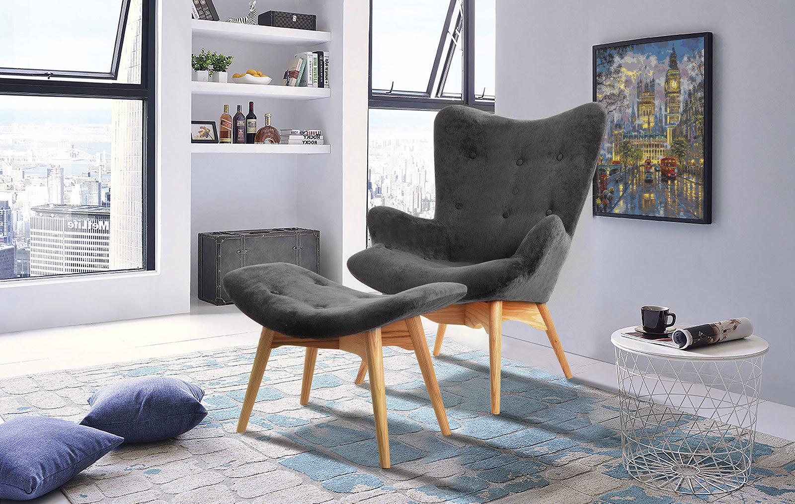 Кресло DC917 графит HE492-10 + банкетка DC917F графит