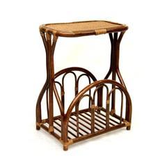 Столик для газет из натурального ротанга