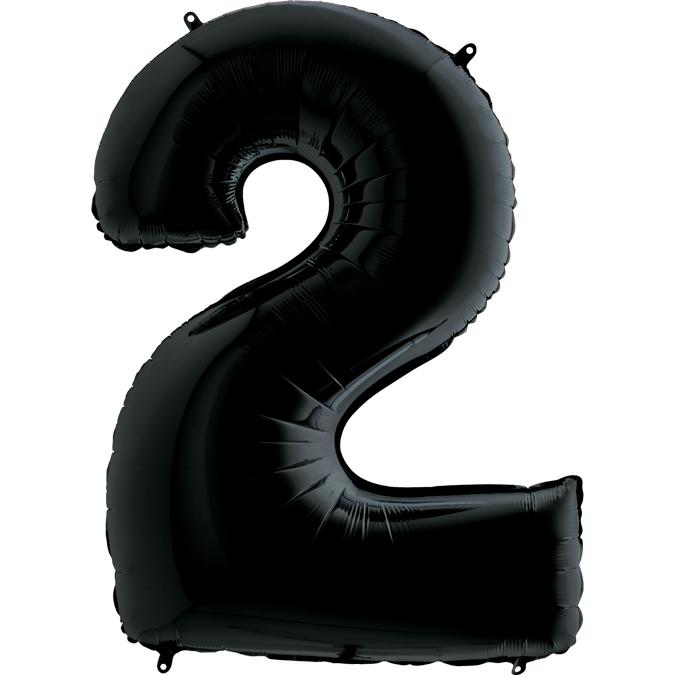 Черная цифра 2