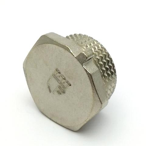 Заглушка латунная никелированная SD Forte 1 с наружной резьбой