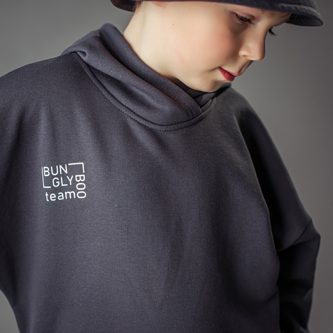 Bb team oversized hoodie for teens - Graphite