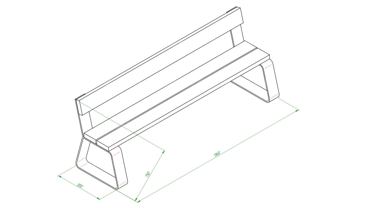 Скамейка SCAM0150