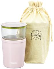Термос для еды с контейнерами Tiger LCC-A030 Pink (цвет розовый)