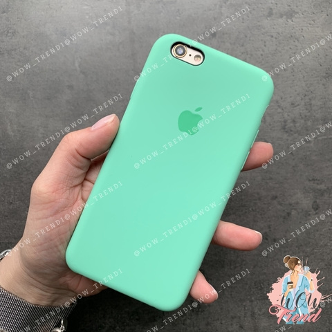Чехол iPhone 6+/6s+ Silicone Case /spearmint/ яркая мята 1:1
