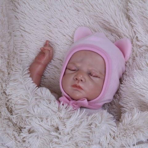 Велюровая шапочка Mini (розовый)
