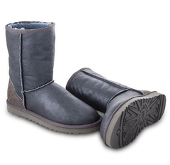 UGG Classic Short Metallic Grey