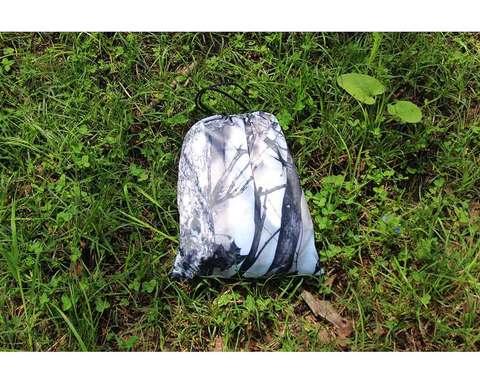 Гамак с москитной сеткой камуфляж лес 1 с карманом под пенку