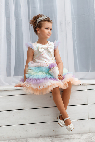 Платье нарядное с сумочкой