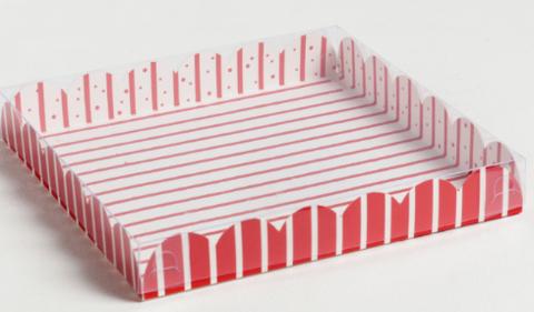 060-0110 Коробка для кондитерских изделий с PVC крышкой «Тепла и уюта», 21 × 21 × 3 см