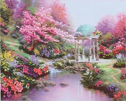 Алмазная Мозаика 40x50 Беседка в сказочном саду (арт. S1846)