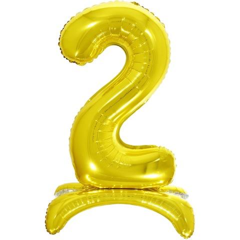 2 Цифры на подставке на пол, Золото, 81 см