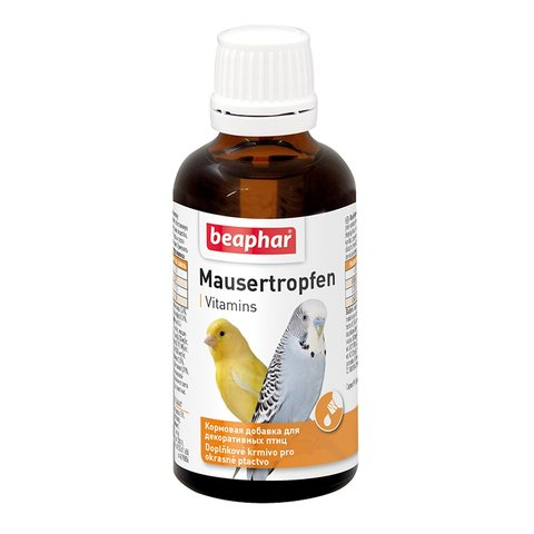 Beaphar для птиц в период линьки Mauser-Tropfen 50мл