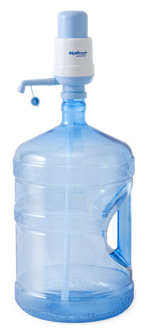 Помпа для 19л бутыли Hotfrost A6 механический голубой/серый блистер