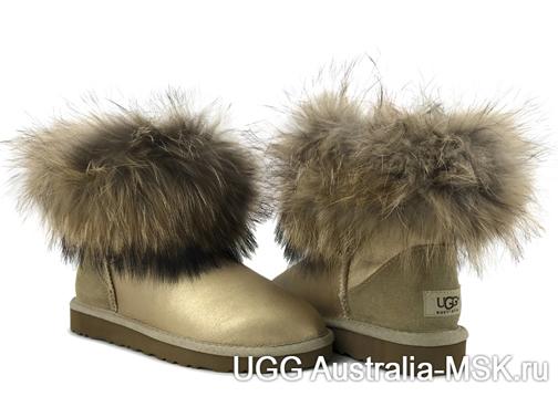 UGG fox fur Mini Sand