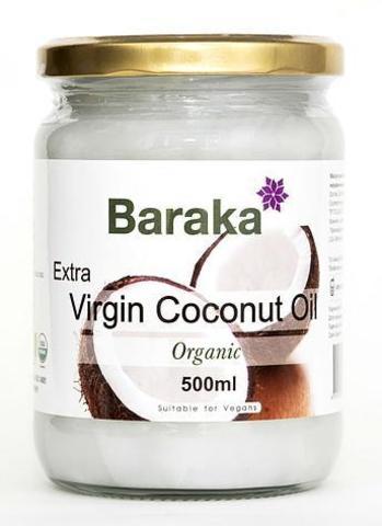 Кокосовое масло Extra Virgin, 500 мл (Baraka)