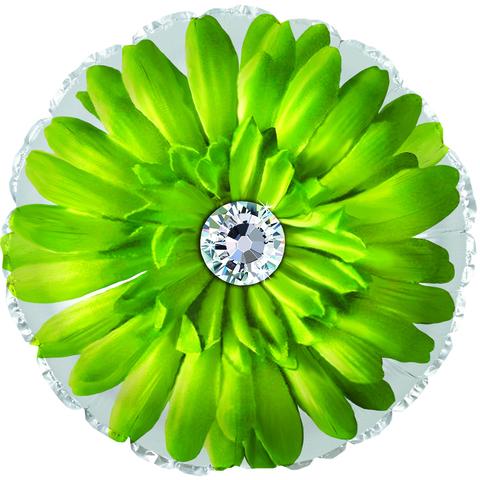 Фольгированный шар Гербера зеленый