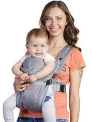 Чудо-Чадо. Рюкзак-кенгуру BabyActive Simple, серый вид 1