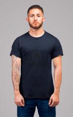 Мужская футболка с принтом Акура (Acura) темно-синяя 002
